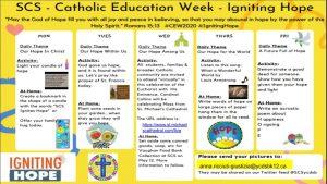 SCS Ignites Hope during Catholic Education Week!