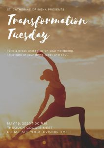 JOIN US FOR TRANSFORMATION TUESDAY @ 1:00 P.M.